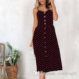 cloth Summer Women Dress 2019 Vintage Sexy Bohemian Floral Tunic Beach Dress Sundress Pocket Red White Dress Striped Female 1 Ali9