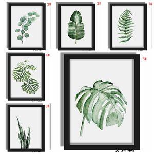 Green Plant Digital Painting Moderne Sofa Wand dekorative Malerei Bild Kunst Gemaltes Kein Rahmen Malerei Hotel-Dekoration Zeichnen BH1496 BC