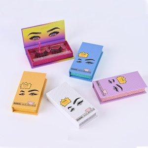 Leeren Mink Lash Wimpern Verpackung Weiß Blau Gelb Lila 5 Farben für wählen Wimper leeren Kasten