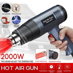 2000W Electric Hot Air Guns 220V 2 gears AdjustableTemperature-controlled Building Hair dryer Heat gun Soldering Tools+4 nozzles