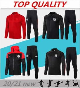 Giacca da calcio 2019 2020 Munich Munich abbigliamento sportivo 19/20 Survêtement Giacca da allenamento full zip LEWANDOWSKI MULLER ROBBEN