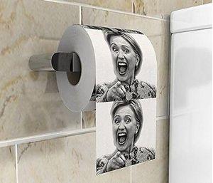 Продажа Hillary Tissue Gag туалетной бумаги ПК Смешные Клинтон Набор Per Креативный Hot 10 подарков Шутка Оптово network2010 gDnxD