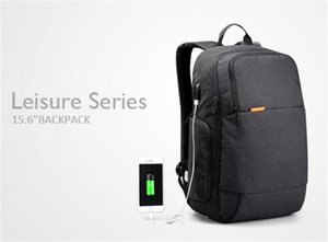 Fashion Quality Canvas Brand External Backpacks USB Charge Laptop Backpack Anti-theft Notebook Computer Bag 15.6 Inches for Business Men