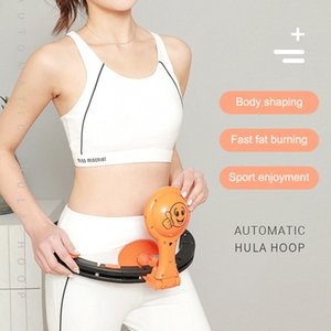 Newly Auto-Spin Hoop Smart Counting Loop Adjustable Slimming Exercise Removable Hoop VA88
