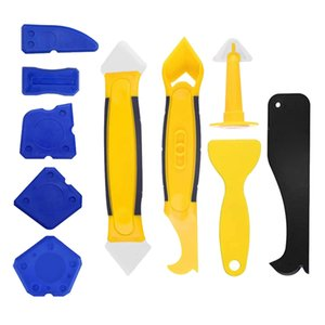 Silicone Sealant Spreader Finishing Tool Kit Caulk Remover And Nozzle 10pcs