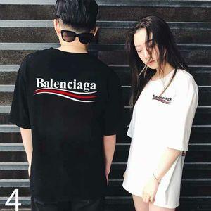 balanciaga Лето 2020 Luxurys Европейский Мужские футболки Высокое качество футболки моды высокого качества дизайнера футболки Street Женские Casual Tee