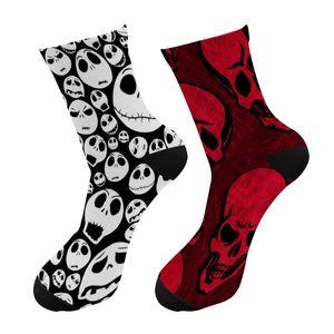 New 3d Printing Halloween Men Crew Socks Funny Skeleton Happy Long Socks Skull Chaussettes Homme Fantaisie Crazy