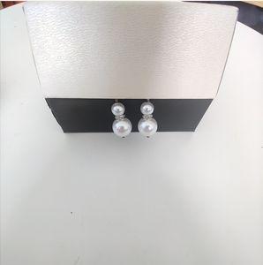 2020 Doppel Gourd Ohrringe Größe Perle Sehr schöne Ohrringe Zähler Konsistente Messing Material Sterling Silber Pin Ohrringe Versorgung