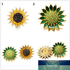 20pcs lot 18mm Sunflower shape snap Button flower crystal Antique Silver snap Jewelry Retro Alloy Ginger Snap Metal Charm fit Bracelet rings
