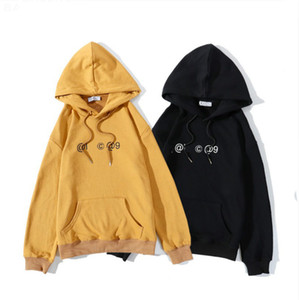 20FW Men's Hoodie Autumn Winter Women's Trend Letter Sweater Fashion High Quality Male Casual Hooded Hoodie 2 Colors Asian Size M-2XL