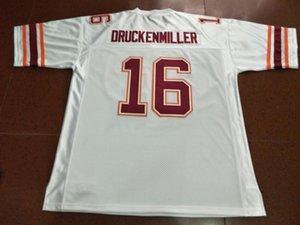 Hommes personnalisés jeunes femmes Virginia Tech Hokies 1997 Jim Druckenmiller # 16 Taille Jersey Football s-5XL ou sur mesure tout maillot de nom ou le numéro