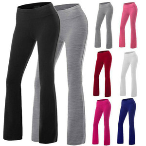 7 colori S-2XL Womens Yoga Pants Bootcut Run Gym Jogger Leggings Leggings Flare Pantaloni Ampia Leg Signore 60187251781780
