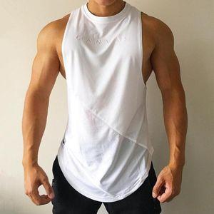 NEW Bodybuilding Sporty Tank Tops Men Gyms Fitness Workout Sleeveless Shirt Male Stringer Singlet Summer Casual Loose Undershirt