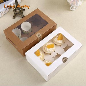 20pcs 6 in 1 Holding Cupcake Boxes Kraft Paper Box Packaging Gift Box Large Paper Drawer Boxes Gift Jewelry Soap Candy