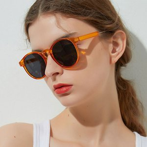 HUHAITANG Retro Round Sunglases Womens Vintage Brand Designer Women Sunglasses High Quality Luxury Outdoor Sun Glasses For Lady