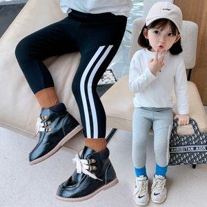 kids designer clothes girls2020 new fashion all-match handsome side stitching Korean style fashionable slim stretch leggings