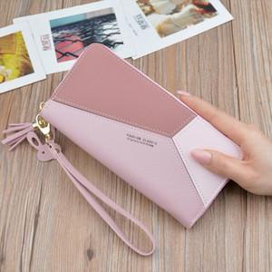 2020 Brand Leather Wallets Women Long Zipper Coin Purses Tassel Design Clutch Wallets Female Money Bag Credit Card Holder