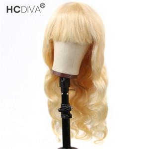 Peluca de cabello humano con la explosión de Brasil la onda del cuerpo 100% real pelucas del pelo humano de Malasia peruana virgen cubierta hecha a máquina sin tapa pelucas 150%