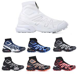 salomon sneakers Snowcross CS Trail hommes de neige d'hiver des bottes noires Volt Bleu Rouge chaussette rouge Chaussures hommes Formateurs hiver neige chaussures bottes 40-46
