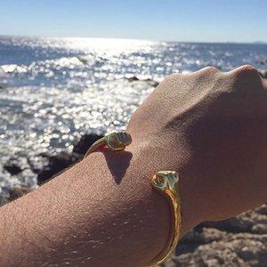 Mcllroy المفتوحة صفعة القبضة التيتانيوم المقاوم للصدأ أساور الذهب افتتاح دبي / البرازيل / الإسورة الأساور للرجال المرأة