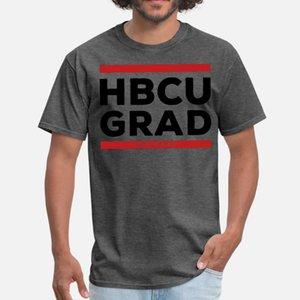 HBCU Old School Grad Hip Hop hombres de la camiseta de manga corta de punto camisa S-XXXL unisex anti-arrugas cómico del estilo del verano de Kawaii