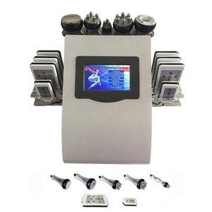 Portátil de belleza 6 en 1 Freeze Disueltos cavitación RF Grasa 40 k cavitación ultrasónica vacío Peso cuerpo de la máquina Pérdida