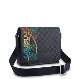 2019 neue heiße Verkaufs-Marken-Entwerfer-Männer Schulter-Aktenkoffer aus schwarzem Leder Designer-Handtaschen-Geschäftsmann-Laptop-Tasche Messenger Bag A2