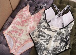 atacado 2020 sexy do biquini do verão Mulheres cintura alta Leopard de uma peça Swimsuit Cobra Imprimir swimwear ternos xadrez Beachwear banho