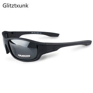 Glitztxunk New Black Polarized Men Sport SunGlasses UV400 Outdoor Driving Fishing Eyewear Fashion Goggles