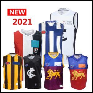 2021 tüm AFL forması Carlton Blues Richmond Tigers Adelaide Crows batı yakası ST KILDA Saints tekli GWS Giants Collingwood singlet eagles