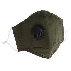 PM2.5 reutilizable Anti-polvo lavable nueva cara de la válvula 2020 máscara máscaras de protección facial de algodón Ma Grit