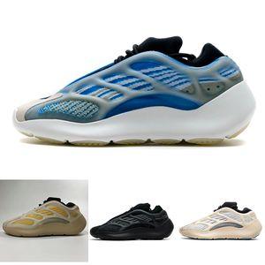 PK Versão Azael 700 V3 Azareth Srphym Preto Designer Shoes brilha no escuro Kanye West Men Womens Running Shoes Com Box corredor da onda Chaussure