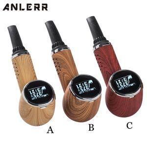 Оригинальный Anlerr PipeVape сухой травы Испаритель Pen Kit OLED экран керамический нагревательный TC Tobacco Выпечка Airflow Выпекать Vape Pipe DHL