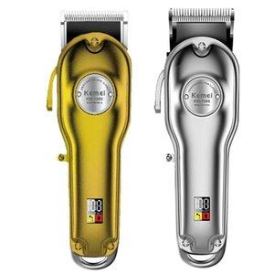 Clipper Tondeuse Hommes Haircut Pour électrique en métal Cordon sans fil Cutter cheveux moteur Barber machine Tous les professionnels Pivot eampE topscissors