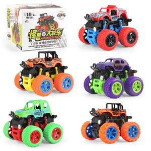 Friction 4WD Mini Inertial Off Road Vehicle Car Toy Modelo Plástico dinâmico Stunt Car Diecast Kid Toys Meninos presente