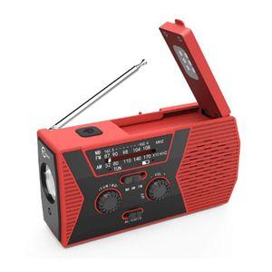 Güneş Enerjisi USB Plastik Pil ile Radyo Okuma Işığı Şarj Fonksiyonlu Manuel Radyo Solar El krank
