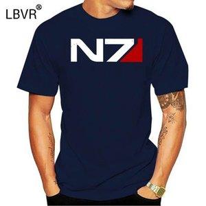 Tall size retro N7 T shirt Mass Effect tee men T shirt menrock short sleeve mens designer shirts