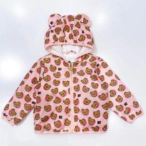 Bebek Kız ve Erkek Kapşonlu Giyim Bebek Çocuk Karikatür Bear Güneş kremi ceketler Çocuk Dış Giyim Fermuar Coats Y200901