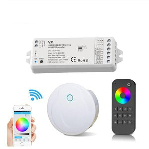 LED Controller hub 2.4G 4-Zone Touchable RGBW controller Wireless RF Remote Group Dimmable Wifi Smart Phone series