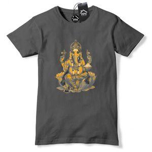 Ganesh Оранжевого слона индуистского бога тенниска Религия Индия Tshirt Топ Ганеш 552