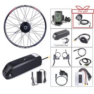 전자 자전거 전면 허브 모터 48V 500W BAFANG 브러시리스 기어 전기 자전거 변환 키트 48V 13AH 리튬 배터리 충전기