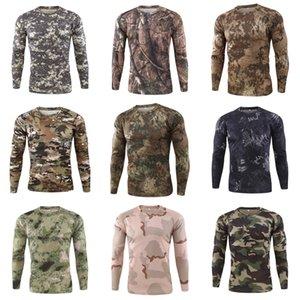 Camice casuali del manicotto del Mens traspirante superdotati Tops Designer spting autunno Mens maglietta lunga # 755