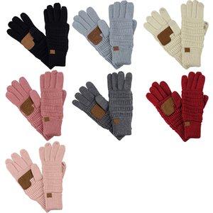 Kış Tasarımcı Eldiven Örme Eldiven Dokunmatik Ekran Eldiven Kalınlaşmış Yün İplik Açık Sıcaklık Binme Kaymaz beş parmak Eldiven XD23925