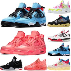 2020 Nike Air Jordan Retro 4 4s zapatos de baloncesto del Mens LA X análisis de de segundo año del álbum retro hombres se divierten las zapatillas de deporte