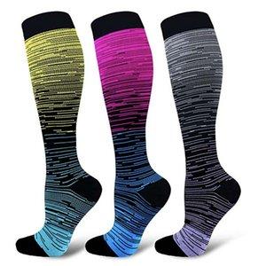 Nylon Compression Socks Women and Men Stockings Best Nursing Hiking Travel Flight Socks Running Fitness Socksn