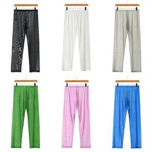 Сетка мужские брюки тонкие пижамы свободно йога йога штаны растянуть брюки головы