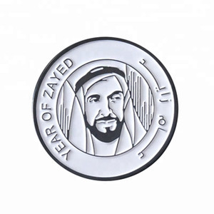 1.25'' UAE soft enamel badge antique lapel pins