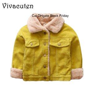 Infant Baby Boys Velvet Jacket Kids Autumn Winter Coat For Baby Kids Warm Fur Outerwear Tops Newborn Baby Thicken Clothes B092