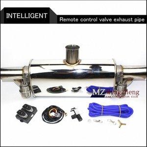 """2.5"""" Exhaust Exhaust System Stainless Steel T da tubulação elétrica recorte Fora válvula com eletrônica Remote Control Mudar tubo WTKR #"""