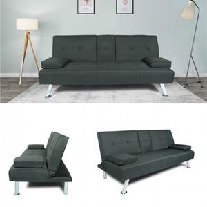 US Warehouse, 3-5 Days Fast Shipping Comfortable Soft SOFA BED SLEEPER DARK GREY FABRIC W22303581